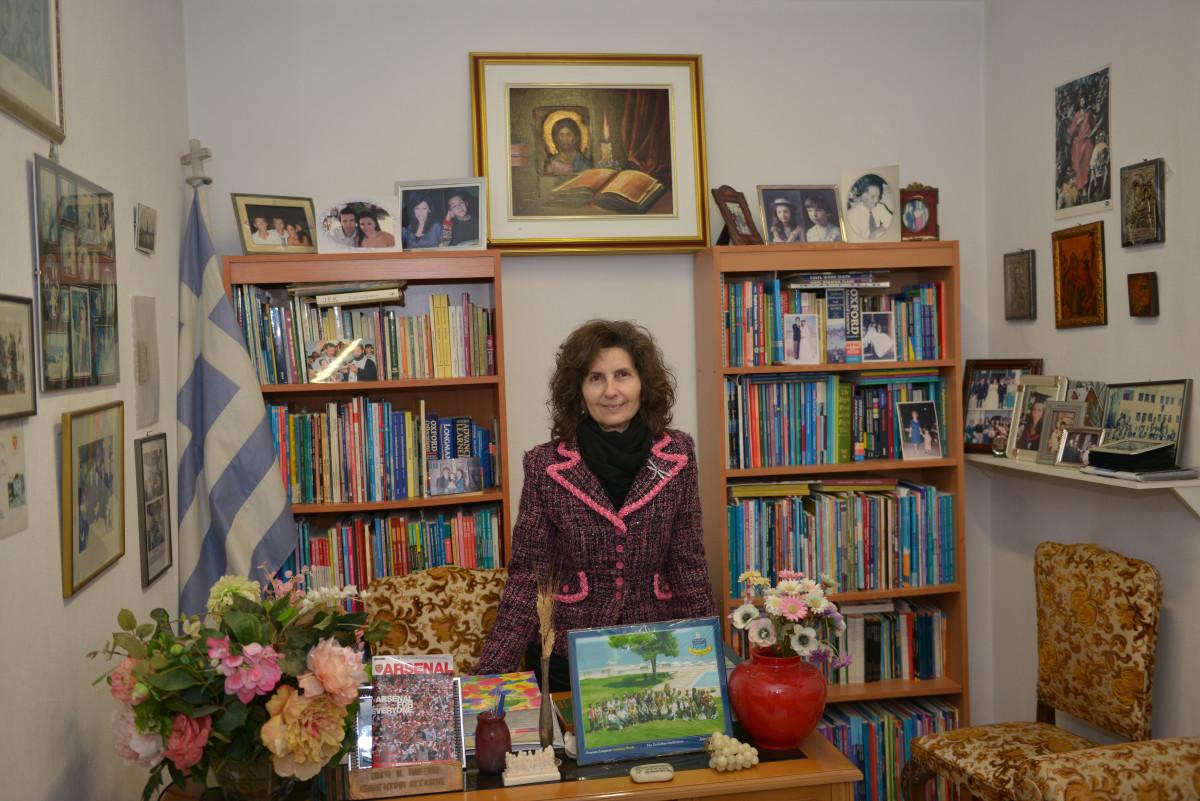 H κα Όλγα Αλεξίου – Περιστεροπούλου είναι Ακαδημαϊκή Διευθύντρια των Κέντρων Ξένων Γλωσσών Αλεξίου. Φωτ. Δημήτρης Γκουσγκούνης
