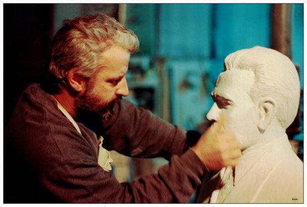 Ο Κώστας Νταής είναι ζωγράφος – γλύπτης. Φωτ. Φώτης Νατσιούλης