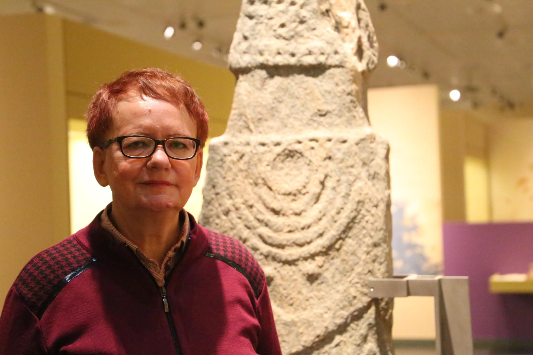 Η κα Σταυρούλα Σδρόλια, Προϊσταμένη Εφορίας Αρχαιοτήτων Λάρισας. Φωτ. larissanet/Λεωνίδας Τζέκας